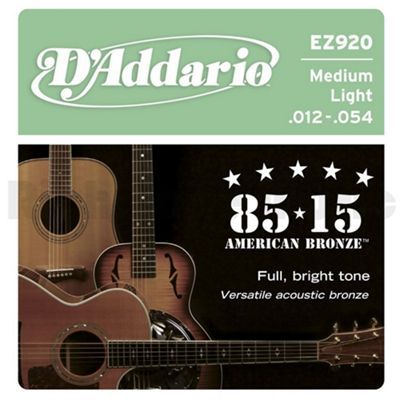 D'Addario EZ920 85/15 Bronze Acoustic Guitar Strings