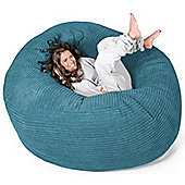 Lounge Pug™ Mega Mammoth Cord Bean Bag - Agean Blue