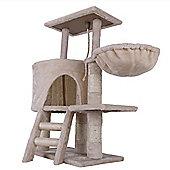 Confidence Pet Deluxe Cat Kitten Tree Scratch Post Activity Centre Beige
