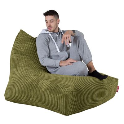 Lounge Pug® Mega Lounger Bean Bag - Cord Lime Green
