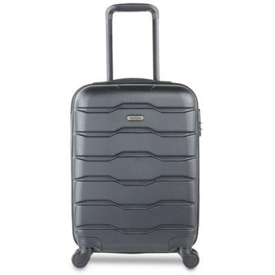 VonHaus Black Hard Shell Carry-on Suitcase - 4 Wheel Spinner Light Cabin Case