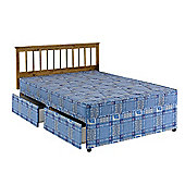 Comfy Living 4ft Small Double Eco Quilted Divan Set with 2 Draw Storage