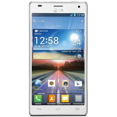 LG Optimus 4X HD (4.7 inch) Smartphone with 8 Megapixel Smart Camera (White)
