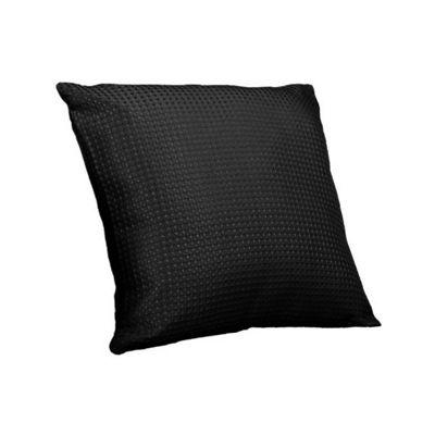 Hamilton Mcbride Waffle Black Piped Cushion Cover - 43x43cm