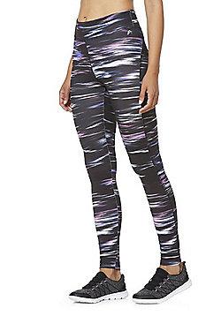 F&F Active Space Dye Leggings - Black & Multi