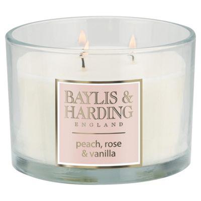 Baylis & Harding Multiwick Candle Peaches & Rose