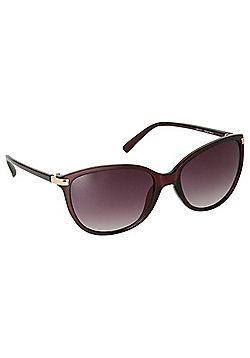 Foster Grant Matte Rectangular Sunglasses - Brown