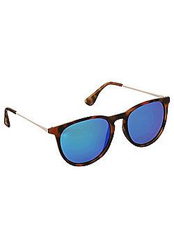 Foster Grant Mirrored Tortoise Shell Wayfarer Sunglasses - Brown