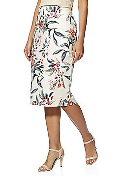 F&F Floral Print Pencil Skirt - Multi