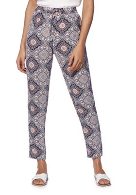 Only Paisley Print Trousers Multi 34 Waist