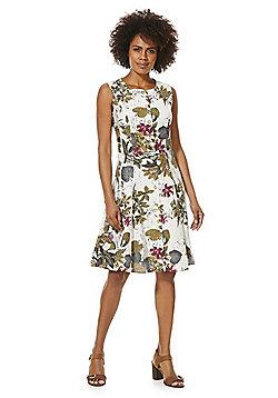 Solo Tropical Print Button Front Dress - Multi