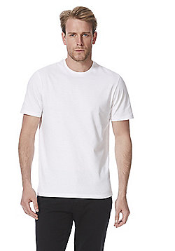 F&F 3 Pack of Crew Neck Short Sleeve T-Shirts - White
