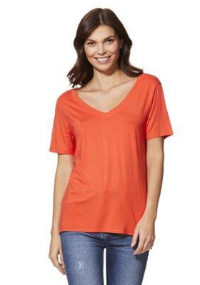 F&F Cross-Back Short Sleeve T-Shirt Orange 12