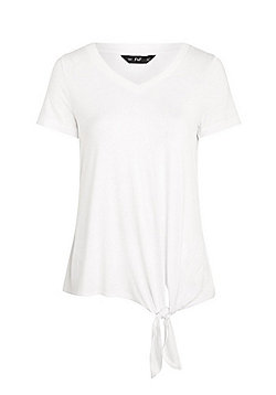 F&F Knitted Trim Knot Detail Top - White