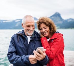 Older couple selfie